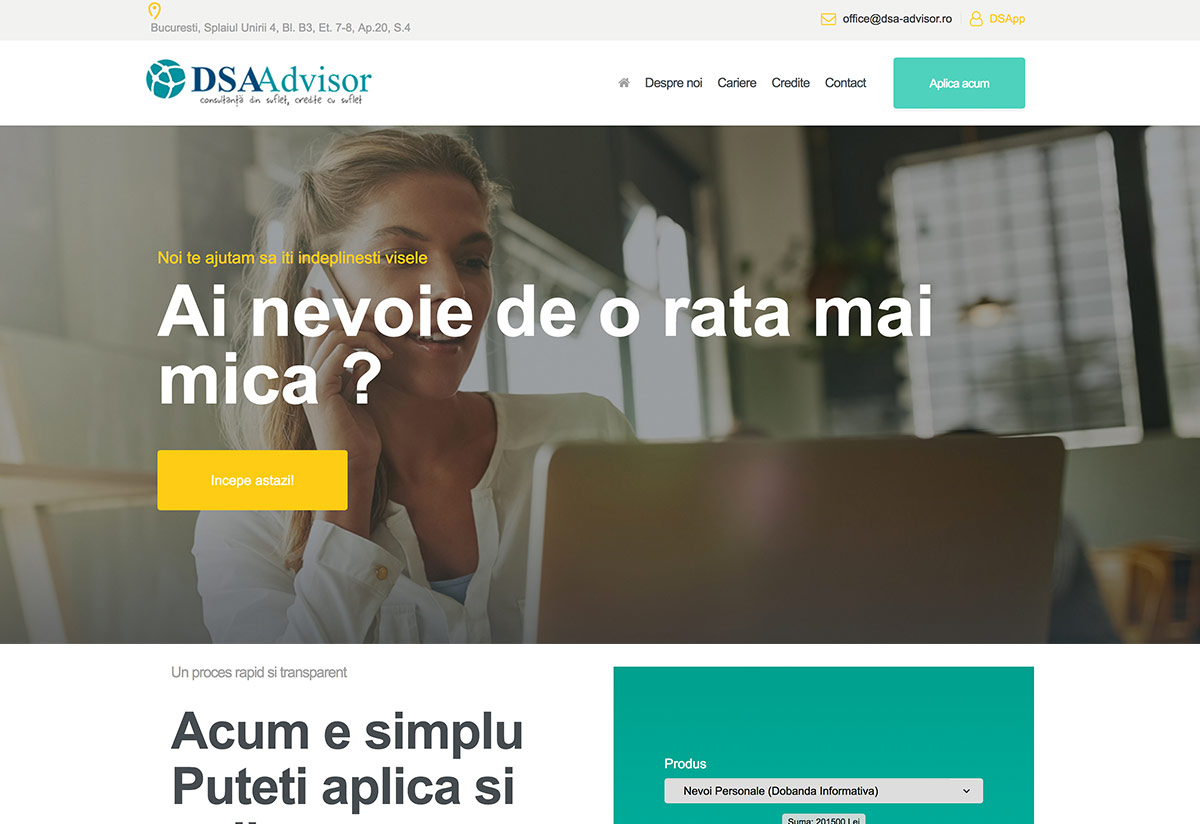 Presentation Website for a Financial Consulting Company – DSA Advisor